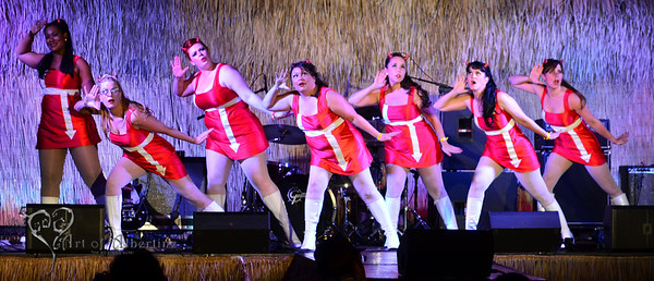 The Devil-Ettes performing on the main stage at Tiki Oasis on Friday.