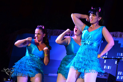 The Devil-Ettes performing on the main stage at Tiki Oasis on Saturday.