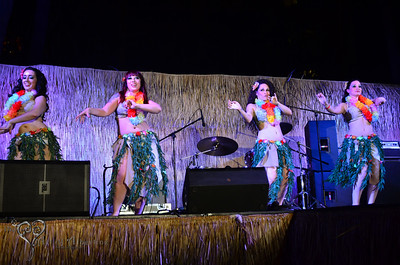 Cabernet Dance performing on the main stage at Tiki Oasis on Friday night.