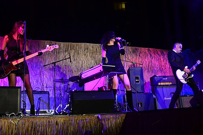 The Love Me Nots performing on the main stage at Tiki Oasis on Friday night.