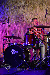 The Barbwires performing on the main stage at Tiki Oasis Friday night