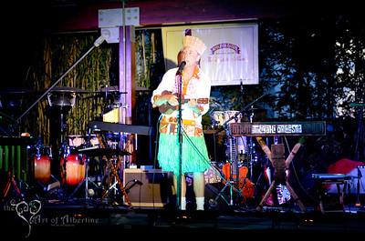 King Kukulele presenting Tikiyaki Orchestra, performing at Tiki Oasis, 2012