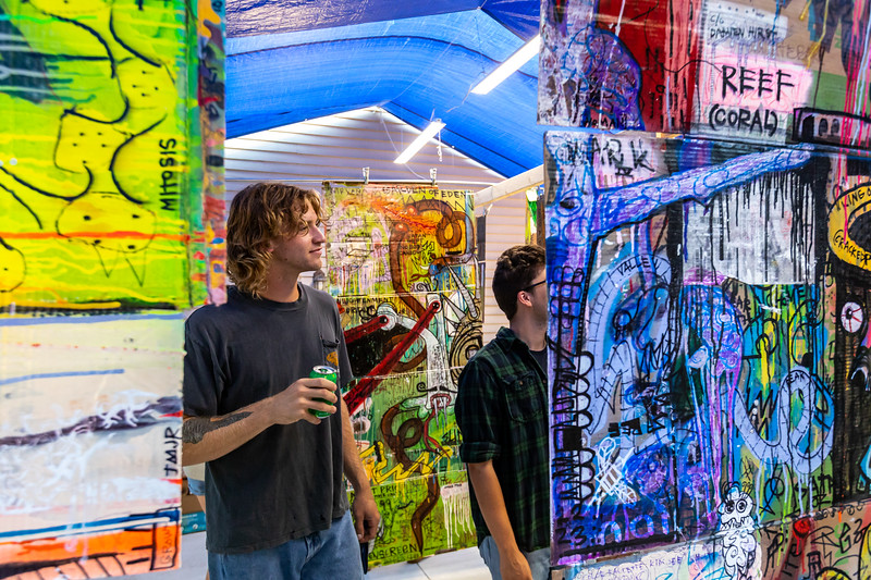 "Tim Rix ""Finished Paintings To Date"" pop-up exhibition. Photo by Tony Vasquez"