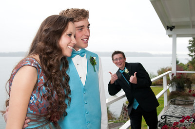 Dallin - The king of the photo bomb. He's been doing this since pre-school.
