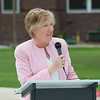 Chadron State College President Janie Park speaks during the Centennial Time Capsule Dedication Ceremony on April 26. (Photo by Justin Haag)