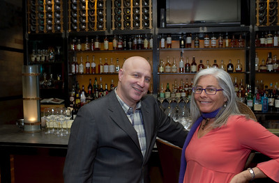 Chef Tom Colicchio in his CraftSteak Restaurant with Kerry Clasby http://www.facebook.com/IntuitiveForager in this picture at MGM Grand Las Vegas from Mark Bowers with http://www.reallyvegasphoto.com
