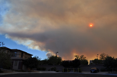 What the fires of Mt Charleston look like from my home on July 8, 2013 as 14000 acres burn out of control.