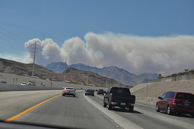 The fires of Mt Charleston in July 2013. Over 14,000 acres burned, with those living on mountain having to evacuate.