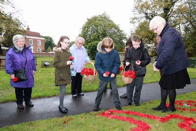 01 NOV 2018 – Named Poppy Planting - All Saints' School at All Saints' Church, Dovercourt  - Photo Copyright © Maria Fowler 2018