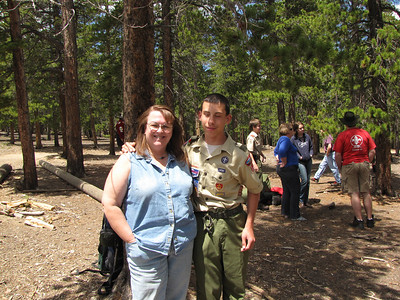 Carol and Sean Tony at the Boy Scout Camp