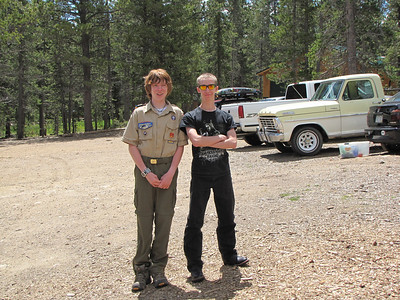 Tony ran into one of his old friends, Stephen, at the Boy Scout Camp