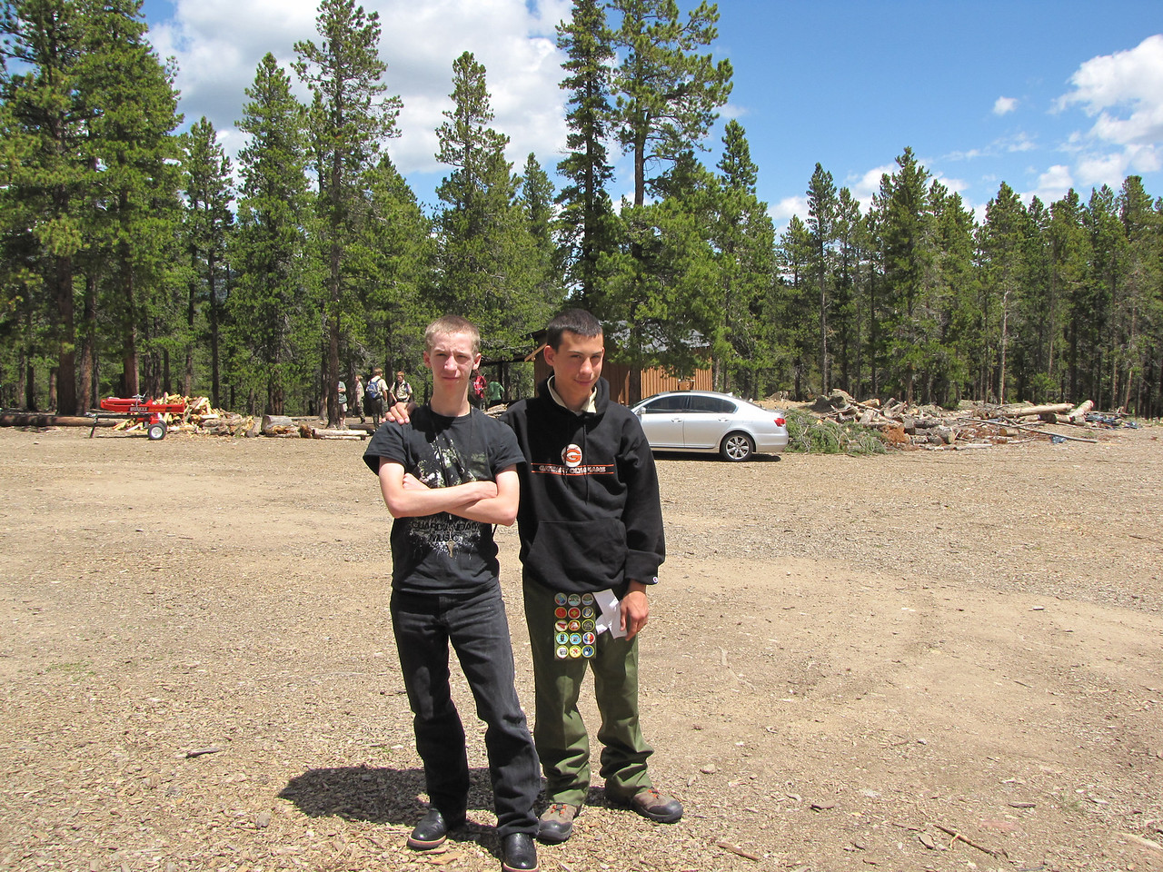 Tony and Sean at the Boy Scout Camp