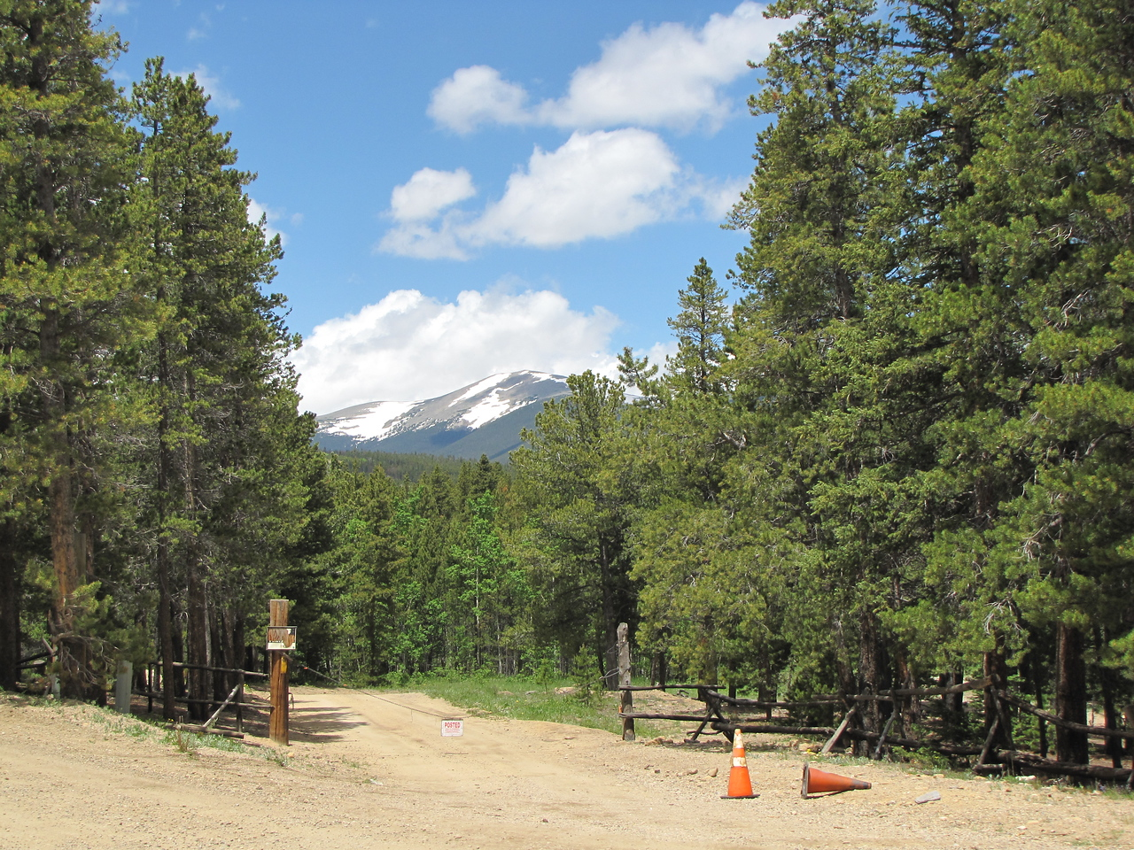 dirt road and mountains by the Boy Scout Camp