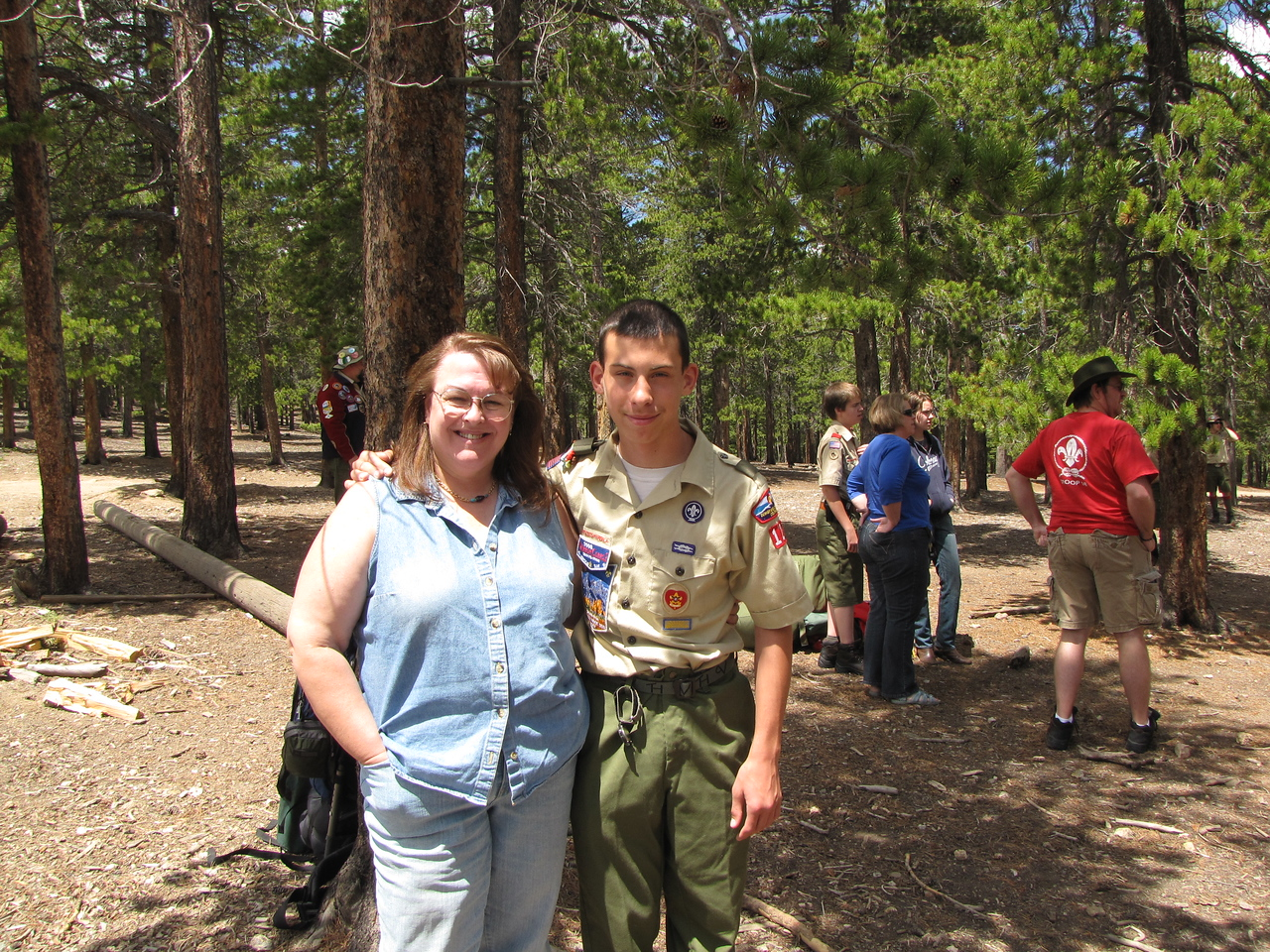 Carol and Sean by the Boy Scout Camp