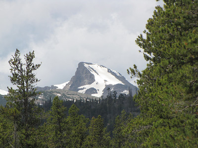 closeup of a mountain by the Boy Scout Camp