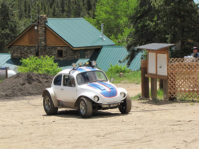 "a cool little ""herbie"" car at the Boy Scout Camp"