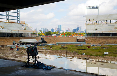 This piece of the stadium will remain open offering a fine view of downtown Houston to the home fans on the south side.