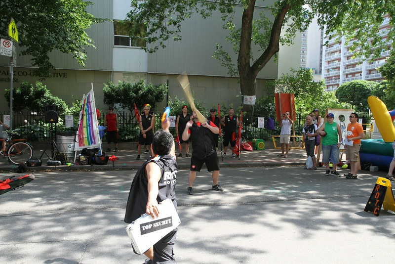 June 29/13 - Toronto Pride 2013, ROTC perform on Alexander St.