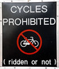 Cycles Prohibited