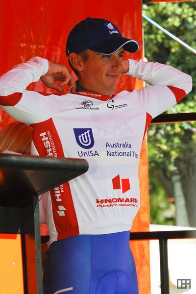 Allan Davis (AUS) of Team Australia-UniSA won the Most Aggressive Rider's Jersey