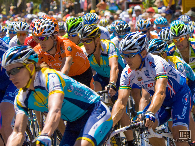 Lance Armstrong in the peloton