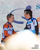 Tom-Jelte Slagter (Blanco Pro Cycling Team) congratulating Geraint Thomas (Sky Procycling)