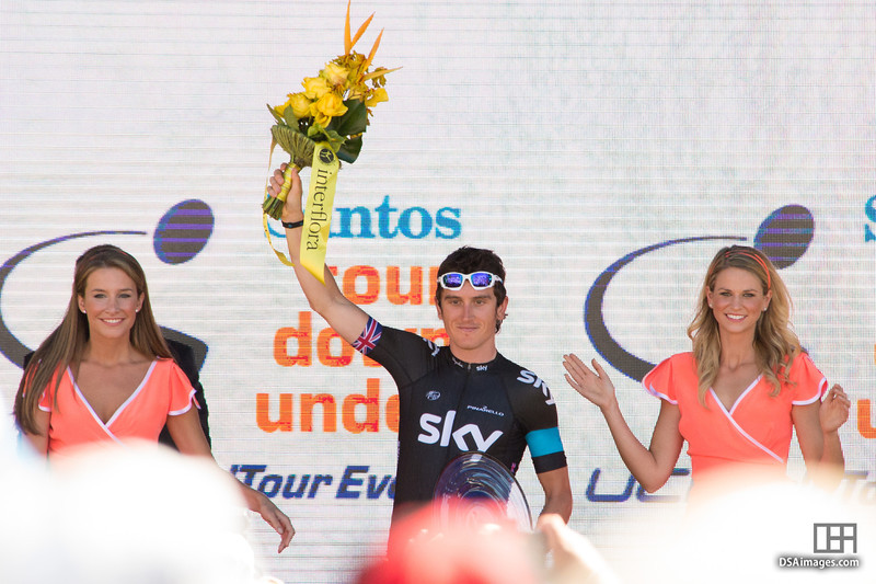 Geraint Thomas, of team Sky Procycling, who took third place in the overall general classification