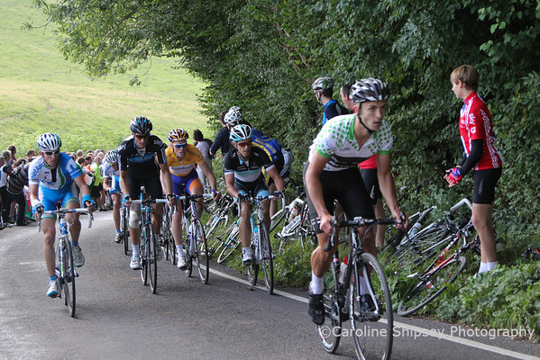 King of the Mountains climb of Old Bristol Hill, Johnathan Tiernan-Locke leading