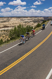 The Tour of Utah, Stage 2 riding along Scenic Hiway 12 through the Grand-Staircase Escalante National Monument.
