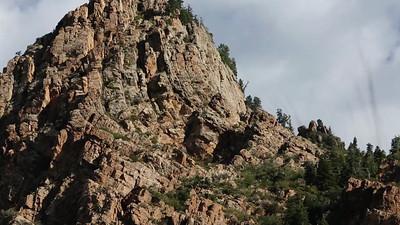 Amazing rock wall above me..