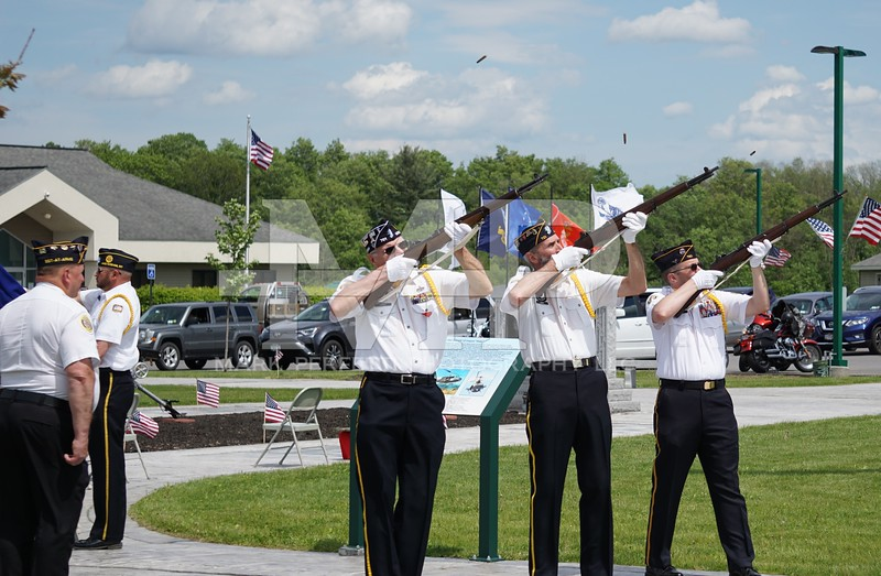 Firing of Volleys by the American Legion Post 701 and the Amsterdam Polish American Veterans
