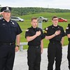 Amsterdam Police Officer Jake Gifford and the Amsterdam Police Explorers Artor Tkacz, Seth Gifford and Caleb Gifford lead The Pledge of Allegiance