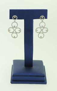 14KWG Circle, Dangle Earrings w/ 1cttw Diamonds. $925.00