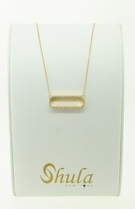 "14KYG Open Bar Fashion Necklace w/ .58cttw Dia, 18"" Chain. $880.00"