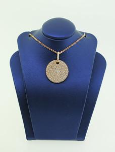 18K Rose Gold Necklace w/ 1.44cttw Diamonds. $2,055.00