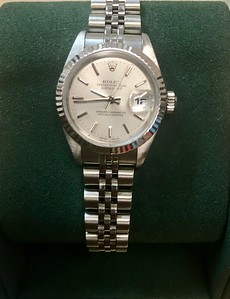 Pre-Owned Ladies Rolex. DateJust, stainless & 18kt. C- $3,000