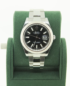 Pre-Owned Rolex, DateJust II, Black Dial., Illuminated Numbers $6,450.00