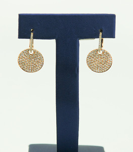18K Rose Gold Earrings with 1.33cttw Diamonds. $1,915.00