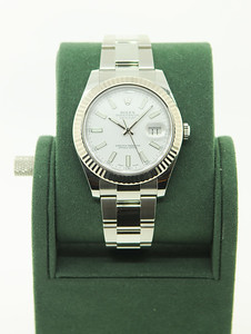 Pre-Owned Rolex, DateJust II w/ White Dial & Illuminated Numbers. $5,950.00