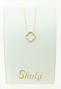 14KYG Clover Flower Fashion Necklace w/ .22cttw Diamonds. $985.00