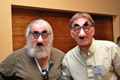 Sometimes you just have to have fun.  These gentlemen had picked up their noses from one of the booths in the tradeshow.  They willingly posed with them for me, after the keynote.  DSC_0824