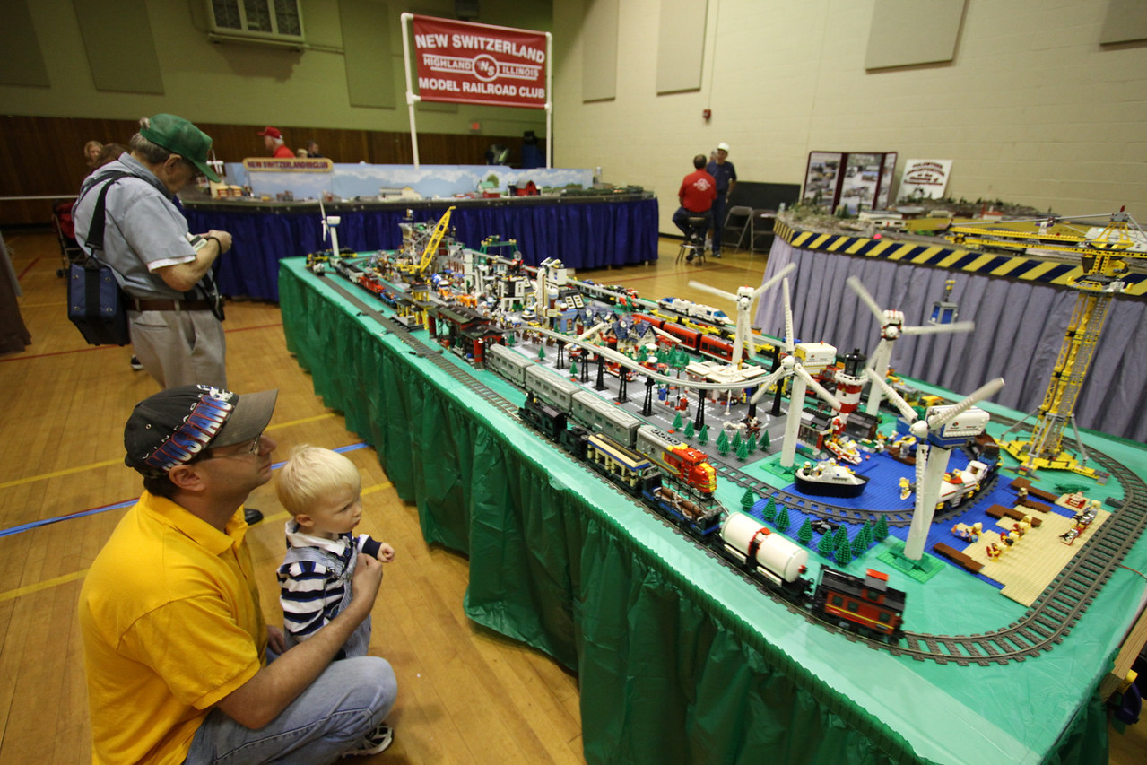 Special attention is given to making layouts visible by the smallest of visitors.  This LEGO layout is on a low table and the large G Scale layout is on the floor, so that children can get up close to the trains, hear them rumble past and smell the smoke from the steam locomotives.