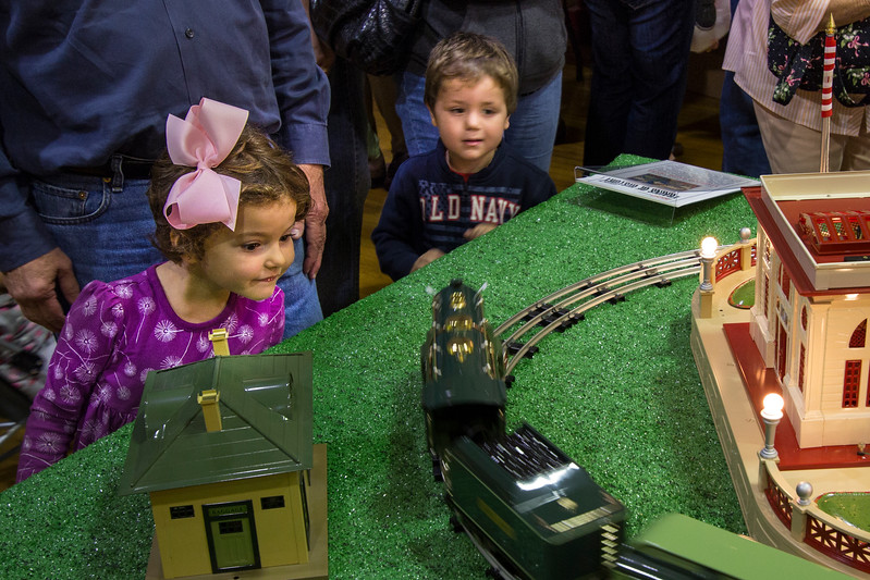 More future model railroaders.  I bet they'd like to find this train under their Christmas tree!