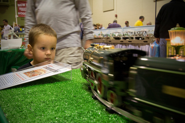Look at that blank stare.  There is no doubt this kid will be a model railroader some day!