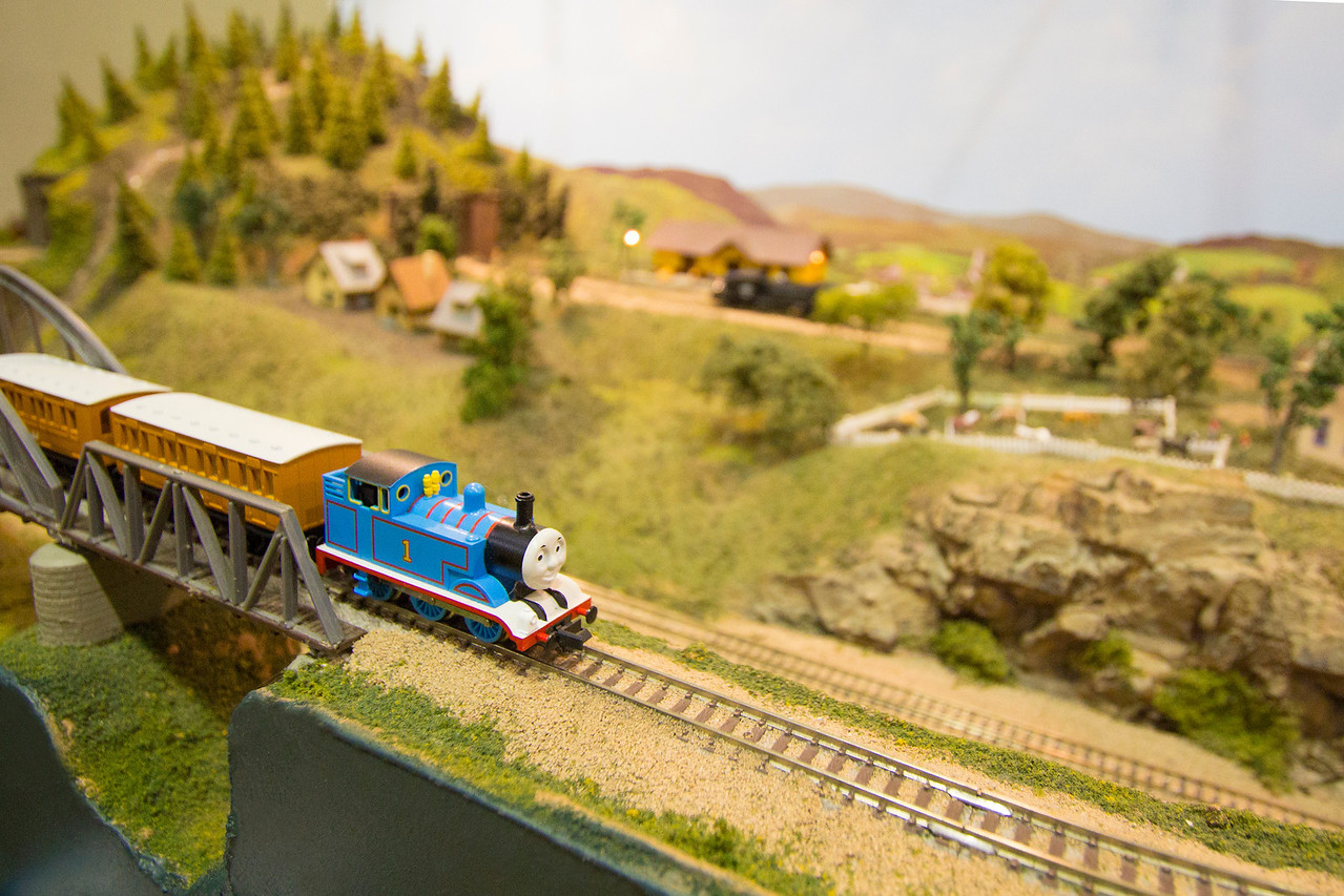 This Thomas the Tank Engine may be small but it's a big hit with the kids.
