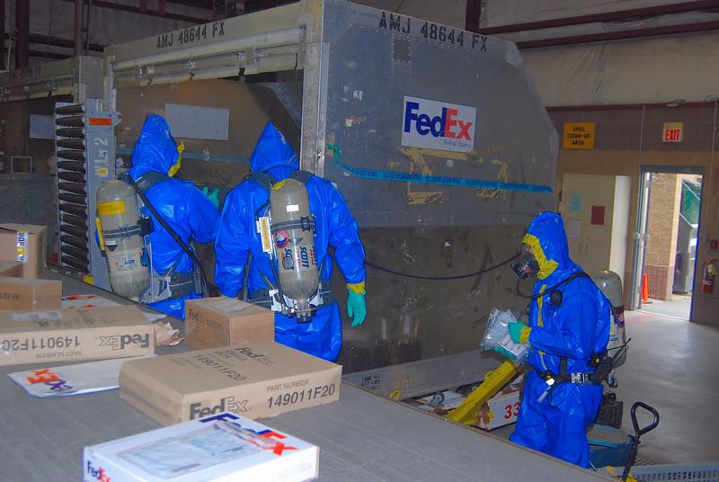 Taking samples inside unit