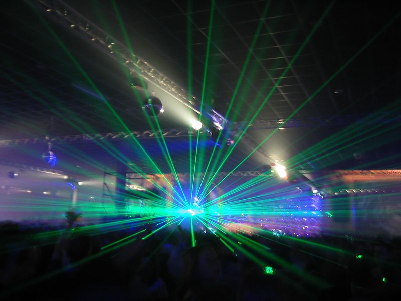 Lasers during Marco V! Coool
