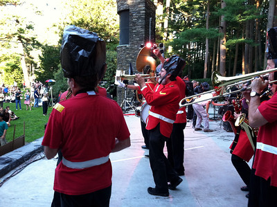Once in a while we stepped forward and played a whole tune (instead of a short fanfare).