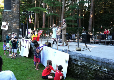 Children's artwork...  while The Fawns performed as the Royal Tenenbaums