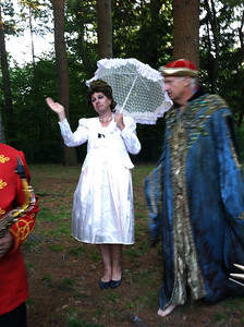 Monte Belmonte, morning host of 93.9 The River, as Queen Elizabeth.